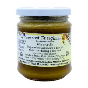 Compost energizzante naturale alla propolis a base di miele ginseng e tutti i prodotti alveare