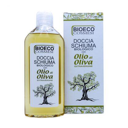 Doccia schiuma biologico con olio di oliva extravergine