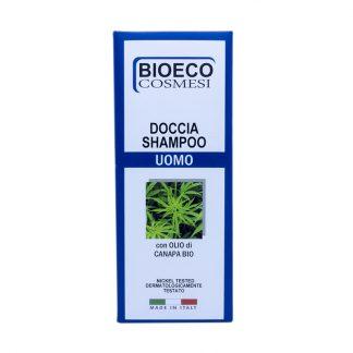 Doccia shampo uomo con olio di canapa biologico