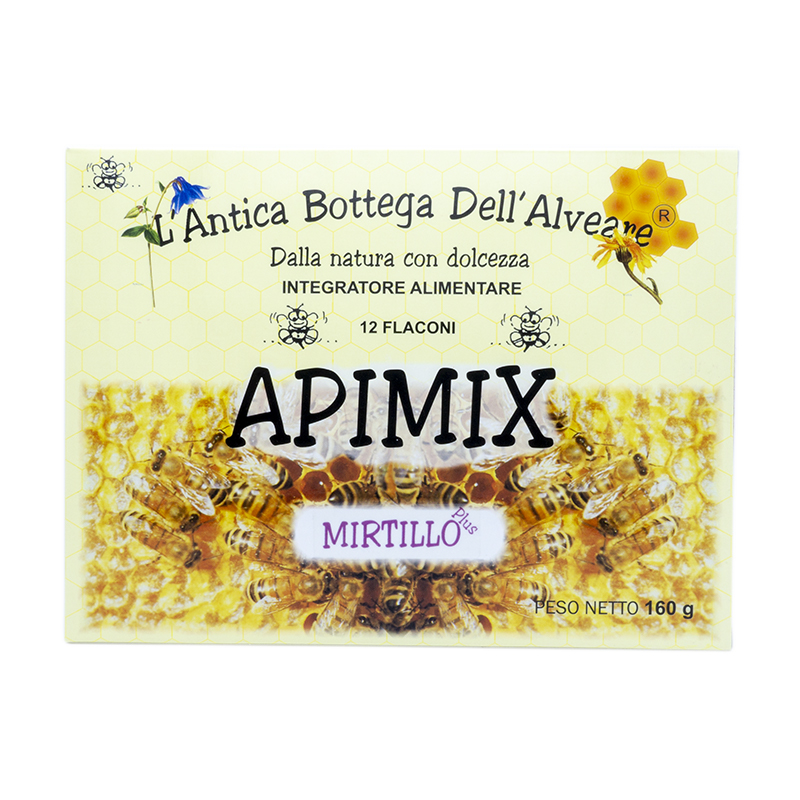 Integratore alimentare Apimix Plus mirtillo 12 flaconi