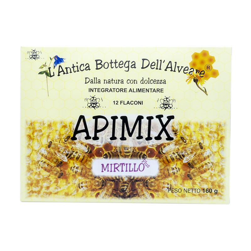 Integratore alimentare Apimix Plus mirtillo 12 flaconi
