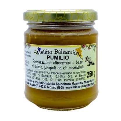 Mellito balsamico pumilio Preparazione alimentare a base di miele propoli ed oli essenziali