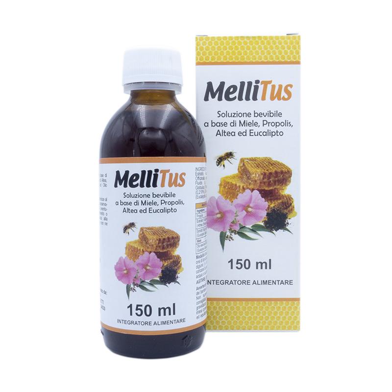 Miele Mellitus Soluzione bevibile a basa di miele propolis altea ed aucalipto