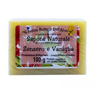 Sapone naturale zenzero e vaniglia